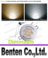 Dimmable Led Ceiling Light 7W 700 LM Warm White LED haute puissance Fixture Bas lumières 110V 240V LLFA11