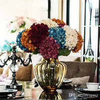 Wholesale Wall Adornment - The Simulation Flower Wholesale Upscale Boutique Zadeh Fusion As Simulation Hydrangea Flower Household Adornment Artificial Silk Flower Bouq