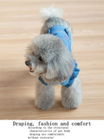 Wholesale Embroidered Wedding Jackets - New cherry embroidered bubble sleeves, pet jeans, dog clothes, puppy, spring and winter, comfortable and concise