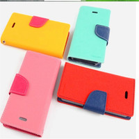 Wholesale case note mercury online – custom Mercury Wallet PU Leather Flip Cases Credit Card Slot Stand Holder Cover For iPhone X plus s plus s se samsung note s8 s8 plus s7