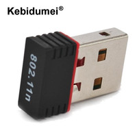 Kebidumei Mini USB WiFi Adapter N 802.11 b / g / n Wi-Fi Dongle High Gain 150 Mbps drahtlose Antenne wifi für computer