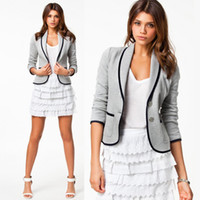 Wholesale women stylish blazers - Womens Clothing Ladies Stylish Casual Suit Coat Jacket Blazer Women Slim Basic Casual Suit Turn-down Coll Jackets Outerwear Blazers Coats