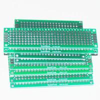 Wholesale Prototyping Pcb - Wholesale-8pcs PCB Prototype Circuit Board Protoboard Stripboard Prototyping Breadboard 2*8+3*7+4*6+5*7 CM 2pcs Each Double Side Module