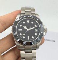 Wholesale Calendar Watches Logo - 2016 Design Ceramic bezel Watch Men Clock mens watches top brand luxury mechanical Automatic Wristwatch no logo relogio