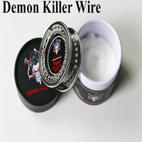 Wholesale Rolled Coils - Demon Killer Wire Coil Alien Clapton Hive Tiger Flat Mix Twisted 15 Feet Roll with Organic Cotton DIY RDA RTA Coils DHL FREE