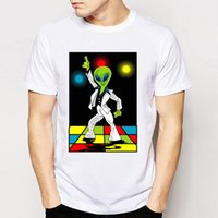 Summer Fashion Cool Rock Roll Uomo Tees Magliette Disco Alien T-shirt Fashion Design O-collo Hipster Tee Shirts