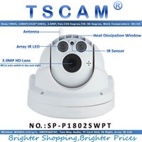 Wholesale Dome Wireless Ptz Ip Camera - TSCAM new SP-P1802SWPT Full HD 1080P 2.0MP Wireless Wifi PTZ Dome IP Camera with Pan Tilt TF Micro SD Card Slot ONVIF