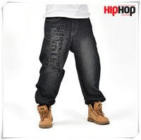 Capris outdoor cargo pants - New Hot Waist inch BIG SIZE HUGE HIP HOP RAP Men s Long Cargo JEANS Pants Casual Overall Men Outdoors Trousers Cool SPORT