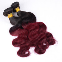 Wholesale Cheap Chinese Body Wave Hair - Malaysian Virgin Hair Body Wave 3Pcs Natural Black 1B Burgundy 100% Unprocessed Remy Human Hair Weaves Cheap Indian Virgin Hair Extensions