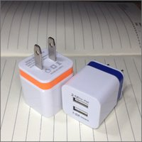 Wholesale Usa Cables - 2016 For Iphone 6S wall charger Travel Adapter double usb ac adapter for iphone 6plus usb charger USA Version EU Version DHL Free
