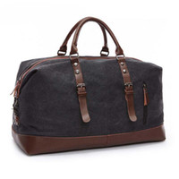 Canvas Leather Men Travel Bags Carry on Bagagem Bag Men Duffel Bags Travel Tote Large Weekend Bag Noite ZDD05051