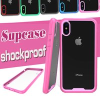 Wholesale Beatles Cases - For iPhone X 8 Supcase Case Strong Armor Shock Drop Proof Anti Scratch Clear Panel Slim Protection Beatles Classic Cover For Samsung S8 Plus