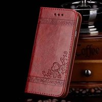 Wholesale Galaxy S4 Classic - Luxury Retro flip PU leather Embossed leather Flower Classic case Card Slot For iphone7 7plus iphone6 5 Galaxy s4 5 s6 s6edge s7