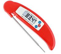 termómetro de sonda de alimentos de cocción digital al por mayor-Cocina plegable Cocina Alimentación Carne Sonda Termómetro digital Electrónica BARBACOA Horno de gas Termómetro Cocina Termómetro de la parrilla