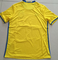 Wholesale National Soccer Jersey Wholesale - 2016 Cup Soccer Jerseys Team National Jersey Sweden Home Away Jersey Yellow Black S-XL Mix Order Customs Jersey Thai Version High Quality