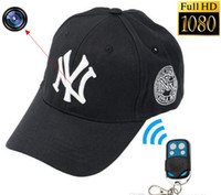 Wholesale Take Hats - 8GB 1920x1080P HD Hidden Spy Camera NY Baseball Hat DVR Video Recorder Cap camcorder Support Photo Taking Remote control