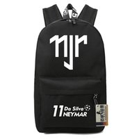 Wholesale Travel Bags For Kids - Neymar backpacks kids school bags backpack for teenage boys girls barcel souvenir bookbag soccer travel bags