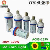 Wholesale E39 Led Bulbs - Free shipping Super Bright Led corn bulb E40 60W 80W 100W 120W Led Corn Light 360 Angle SMD2835 Led lamp lighting AC 100-300V