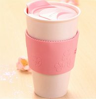 Wholesale Embrace Japan - Authentic Japan style Starbucks Embrace Peach blossom mug coffee cup 360ML pink double layer ceramic Mug with lid gift for girl