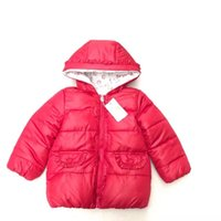 Wholesale Shop Kids Clothing Winter - Fress shopping 2017 new kids winter Girlls red Cotton-padded hooded clothes Double sided Wearable for 24M--6T