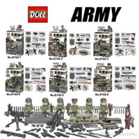 Boneca D162 Band of Brothers tenente / Guarda / Heavy Machine Gun minifigures Building Block Minifigure Brinquedos suportados por todos os blocos 1864