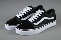 Wholesale Canvas Shoes Van - New Arrival VAN OG OLD SKOOL Brand Authentic Old Skool Low Cut Canvas Shoes Women And Mens Classic Retro Sneakers Skateboarding Shoes