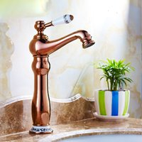 Wholesale Brass Traditional Sink - Free shipping Traditional Centerset Ceramic Valve Single Handle One Hole with Blue and white porcelain Bathroom Sink Faucet