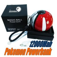 Wholesale Ar Ball - Newest Poke power bank 10000 mAh for Poke AR game powerbank with Poke ball LED light portable charge figure toys 1 peice