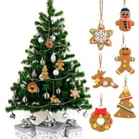 Wholesale Hanging Track - 6 PCS Cute Hanging Christmas Tree Ornament Cartoon Animal Biscuits Like Hand Made Polymer Clay Christmas Decorations E5M1 order<$18no track