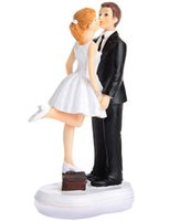 Wholesale Wedding Love Kiss - Love Kiss Bride & Groom Cake Topper Wedding Topper Wedding Gift Cake Topper Wedding Cake Decorations 2016 June Style
