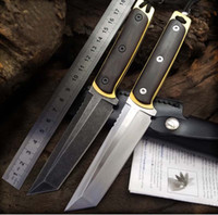 Wholesale 7cr13mov knife steel for sale - Group buy High quality Fixed blade Knife CR13MOV cold steel ebony Handle Extrema ratio Survival Camping Preferred Tool