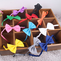 Wholesale rabbit grooming - Dog Tie Adjustable Pet Grooming Accessories Rabbit Cat Dog Bow Tie Solid Bowtie Pet Dog Puppy Lovely Decoration Pet Product IC597