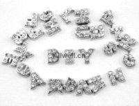 Wholesale Charms For Origami Owl - 26pcs DIY alphabet CRYSTAL SILVER INITIAL from A to Z floating charms for origami owl Living Lockets 30mm,each letter 1pcs