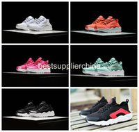 Wholesale 2016 New Kids Air Huarache Ultra Sneakers Shoes For Boys Grils Authentic Children s Trainers Huaraches Sport Running Shoes Size