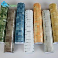 Wholesale Window Insulation Roll - Wholesale- 45x300cm roll Kitchen Wall Anti Oil Stickers Mosaic Self-adhesive wallpaper for bathroom tile window wall peel&stick waterproof