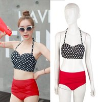 Vintage Retro Rockabilly High Waisted 50s Style Bikini Swimsuit Hot Sexy