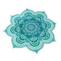 Wholesale Beach Towels Beige - Wholesale58 inchFlower Beach Towel Large Polyster PrintedBohemia Print For Adults Peacock Mandala serviette de plage