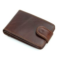 Wholesale Business Scan - Handmade Genuine Leather Vintage Mens RFID Anti Scan Wallet Purse Card Package8121Q