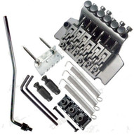 Black Floyd Rose Tremolo Bridge Système de verrouillage double Poulies cordes de guitare Bridge Guitare électrique Pièces de guitare Bridge