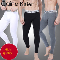 Wholesale Sexy Warm Leggings Tights Winter - Wholesale-new arrival man tight winter wear thick thermal sexy long johns men underwear warm elastic home men's leggings pants plus size