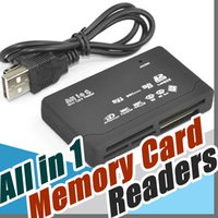 Wholesale Mmc Xd Sd - Universal Multi in 1 All in One Memory Card Reader USB External SD SDHC Mini Micro M2 MMC XD CF
