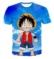 Wholesale One Piece Luffy Shirt - New Arrive Classic Anime One Piece 3d Printed T Shirts Fashion Cute Luffy T-Shirt Men Boy Harajuku Novelty Cartoon Tee Tops