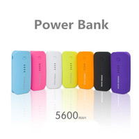 Wholesale Galaxy Power Bank - 200pcs New brand Power Bank 5600mah Big capacity Ultra-thin Universal Mobile power supply Charger Battery For Galaxy S5 iPhone 5 6
