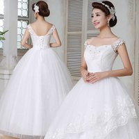 Wholesale Korean Ladies Images - 2016 New Summer Large Size Korean Style Butterflies Sweet Lady Wedding Dress Romantic Vintage Sweetheart Luxurious Princess Dress
