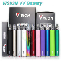 Wholesale Wholesale Twist Battery - Vision Spinner electronic cigarette ego c twist 3.3-4.8V Variable Voltage VV battery 650 900 1100 1300mAh e cigs cigarette ego atomizer DHL