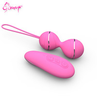 Wholesale Jumping Ball Sex Toy - YAFEI USB Vibrating Egg Female Vaginal Vibrator Kegel Balls Jump Eggs Waterproof Ben Wa Balls Sex Products Sex Toys for Women