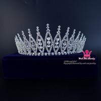 coronas del desfile de calidad al por mayor-Boda nupcial Tiara diadema belleza Pageant corona accesorios para el cabello joyas extremadamente hermoso desgaste del pelo de buena calidad 02287