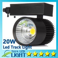 led ışıklar ücretsiz toptan satış-CE RoHS LED ışıkları Toptan 20 W COB Led Parça Işık Spot Duvar Lambası Soptlight Takip led AC 85-265 V Led aydınlatma Ücretsiz kargo 10