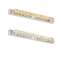 ingrosso specchio di cristallo moderno-Lampade a specchio a cristallo lunghe moderne di Fxiture 680mm della luce della parete del bagno del bagno 18W LED moderne nella camera da letto 85-265V