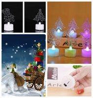 Wholesale Color Changing Christmas Trees - Christmas LED Electronic Candle lamp Color Changing Christmas Tree Santa Claus snowflake Christmas Gifts Wedding Party Decor Lamp KKA552
